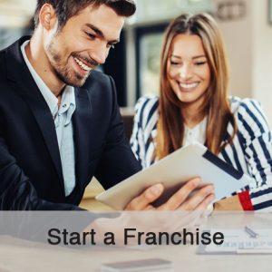start a franchise button